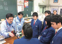 Workshop at Masugata Junior High School