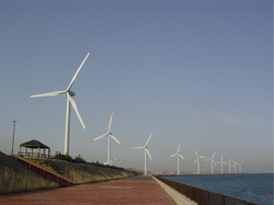Operating Japan's first wind power generation business in a harbor district(NS Wind Power Hibiki)